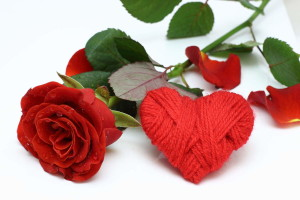A rose and heart